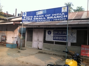 "We loved this ""ultra small branch"" of the Bank of India!!"