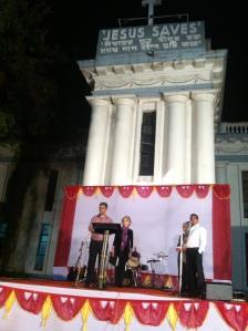 Speaking at Carey Baptist Church in  Calcutta (Kolkata).